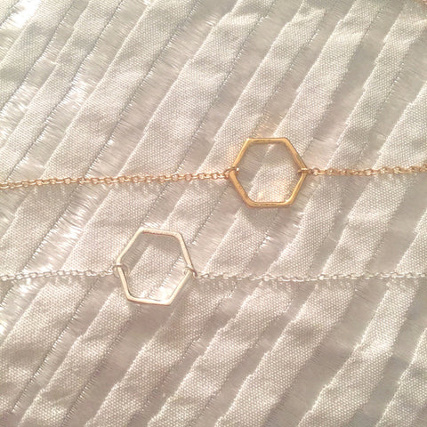 Delilah's Hexagon Necklace - Rachel Michelle USA
