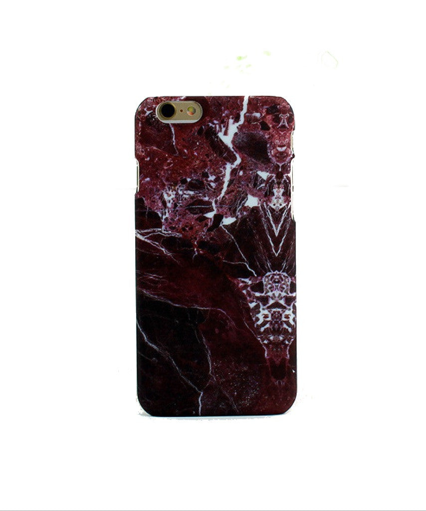 Red/Black Marble iPhone Case - SnapCali