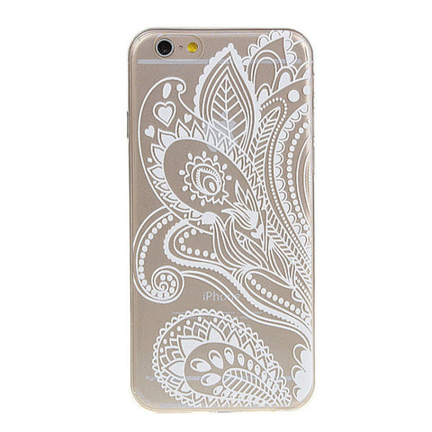 White Paisley iPhone Case - Rachel Michelle USA