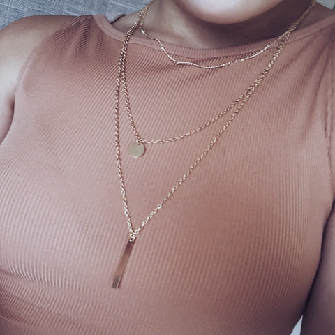 Amelie Layered Necklace - SnapCali