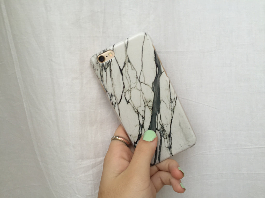 White Marble iPhone Case - Rachel Michelle USA