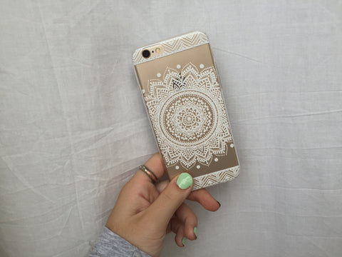 White Flower/Chevron iPhone Case - Rachel Michelle USA