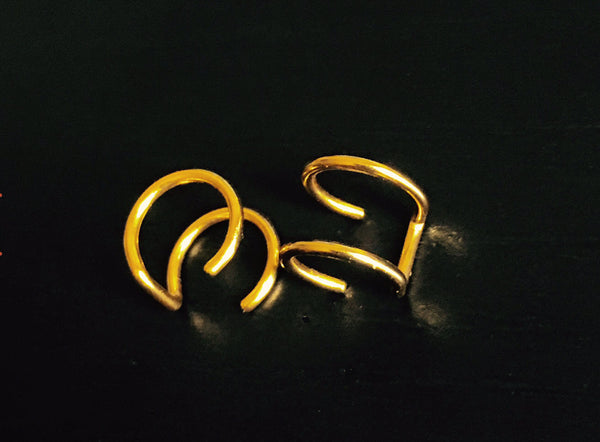 Fake Gold Freedom Earrings - SnapCali