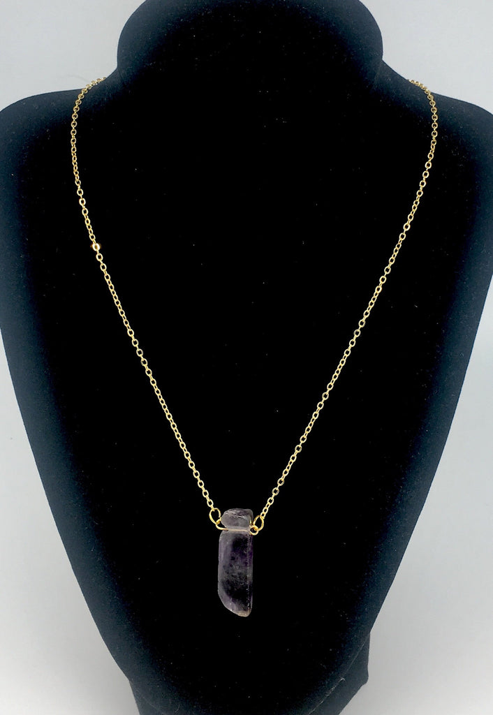 Emily Amethyst Necklace - SnapCali