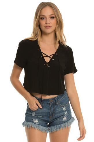 Nautical Lace Up Shirt - Rachel Michelle USA