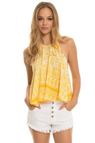 You're My Sunshine Halter Tee - SnapCali