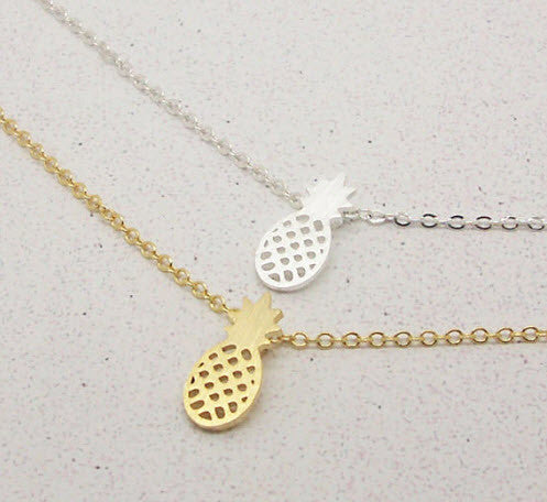 Pineapple Necklace Gold or Silver - SnapCali