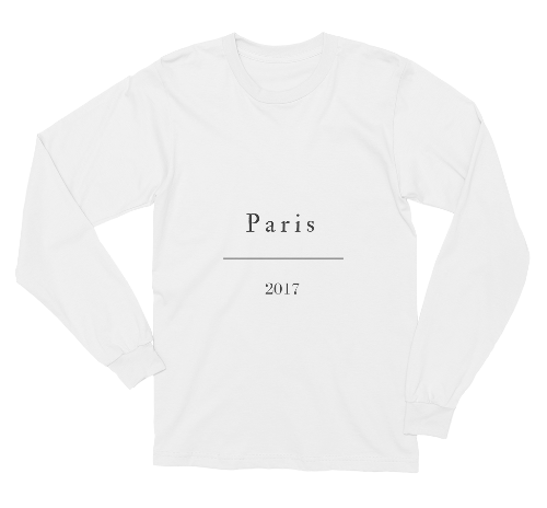 Paris 2017 Longsleeve Shirt - Rachel Michelle USA