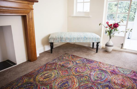 Silky Tribal Red Rug