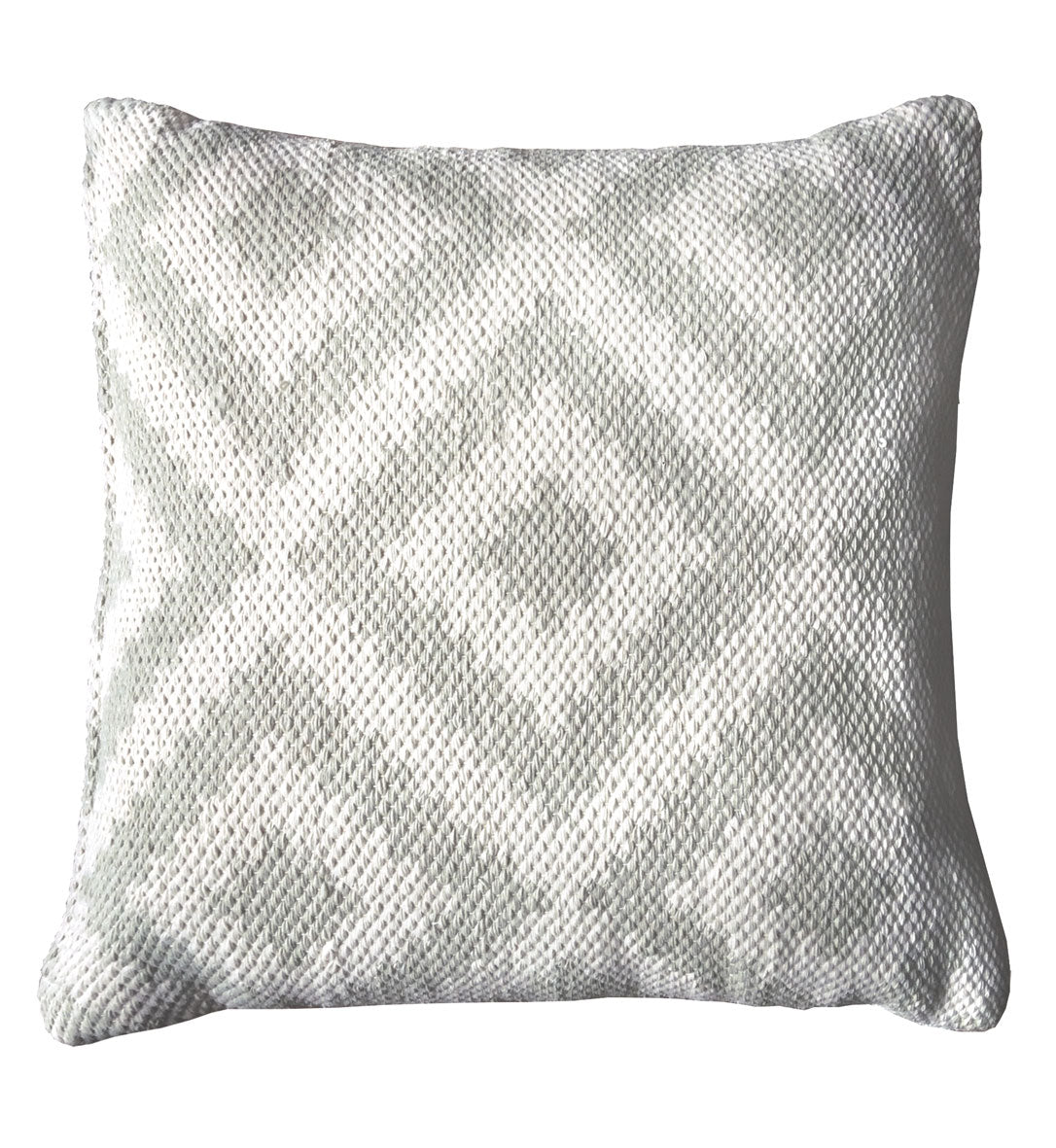 Silver Light Cream Outdoor Cushions Recycled Polyprop Green Decore