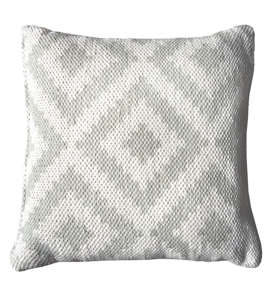 Ava Cushion Cover Silver /  Light Cream, Outdoor Cushion ( Cover only)