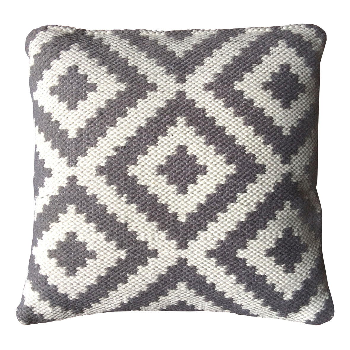Ava Indoor Outdoor Cushion (GREY/Light Cream)