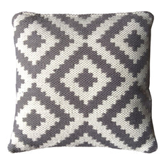 Ava Cushion Cover  Grey /  Light Cream, Outdoor Cushions, Recycled Polypropylene