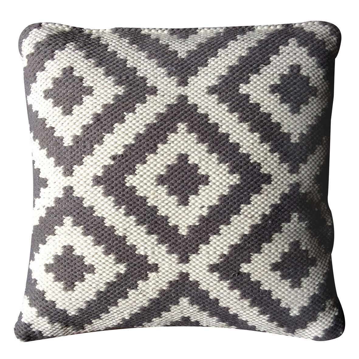 Ava Indoor Outdoor Cushion (DOVE GREY/Light Cream)