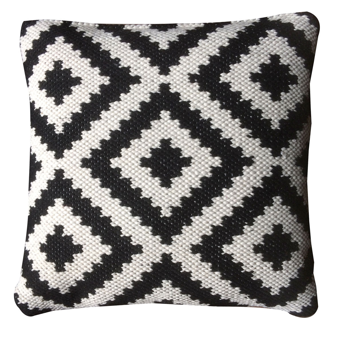 Ava Indoor Outdoor Recycled PET Cushion Cover (Black/Light Cream)( Cover only)