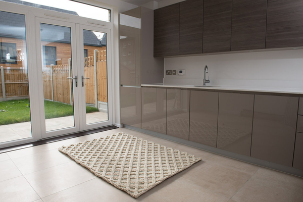 Lattice Wool Rug - greendecore.co.uk - 4