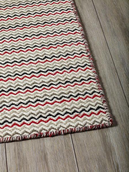 DP 11 Red MultiColor Rug - greendecore.co.uk