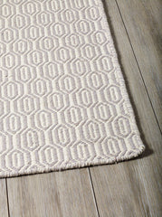 DP 12 Taupe  and Light Cream Rug - greendecore.co.uk - 1
