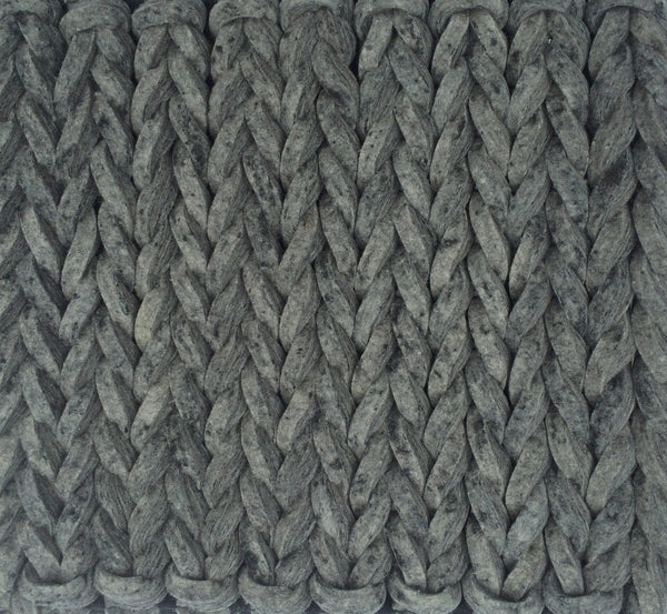 Tresse Wool Rug , Coal - greendecore.co.uk - 1