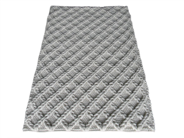 Lattice Wool Rug - greendecore.co.uk - 2