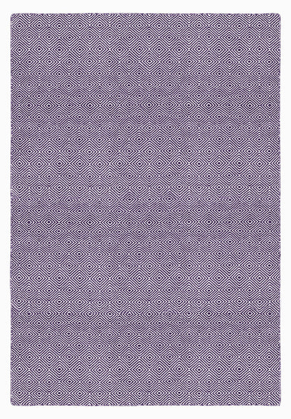 Solitaire Aubergine and Light Cream Rug
