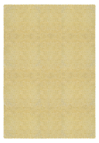 Solitaire Yellow and Light Cream Rug
