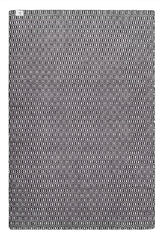 DP 12 Black  and Light Cream Rug