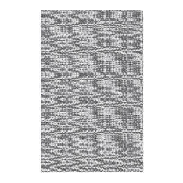 DP 20,  Herringbone Grey and Light Cream Rug