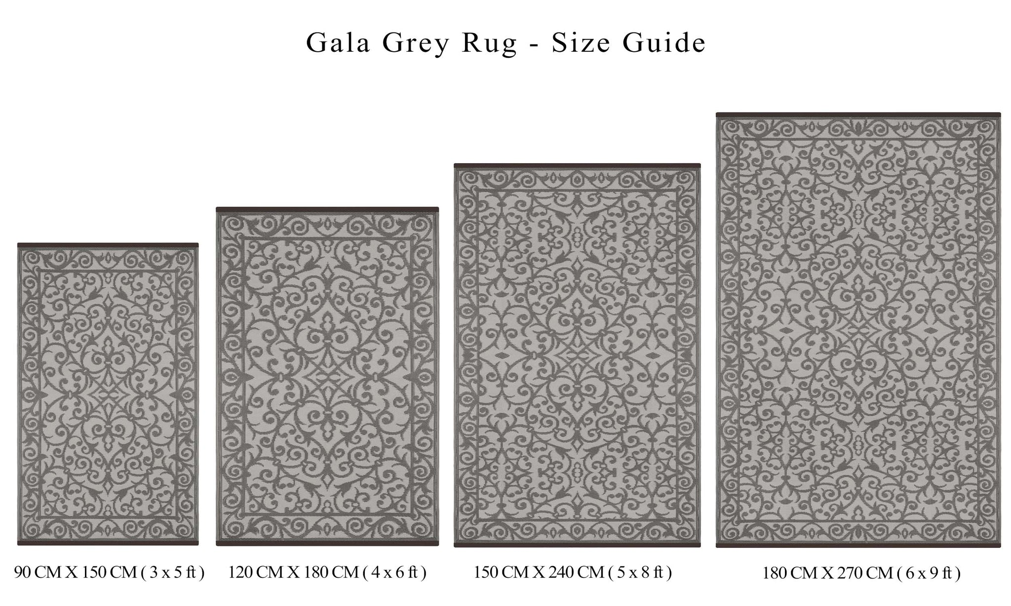 Gala Outdoor Recycled Plastic Rug (Taupe Grey/Cream)