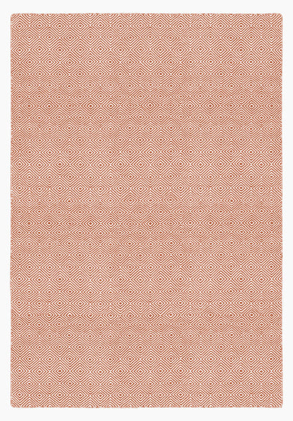 Solitaire Coral and Light Cream Rug
