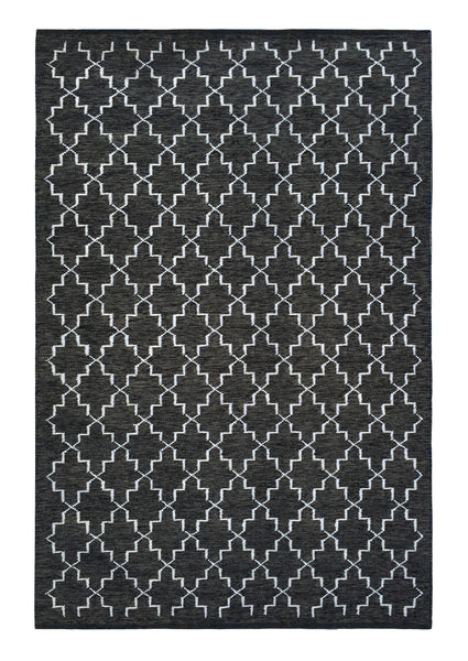 DP 35 Coal and Light Cream Rug - greendecore.co.uk - 2