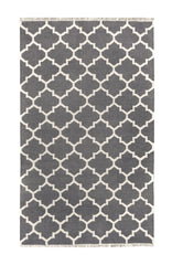 DP 38  Coal Grey   and Light Cream Rug