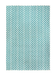 DP 54 Turquoise and Light Cream Rug