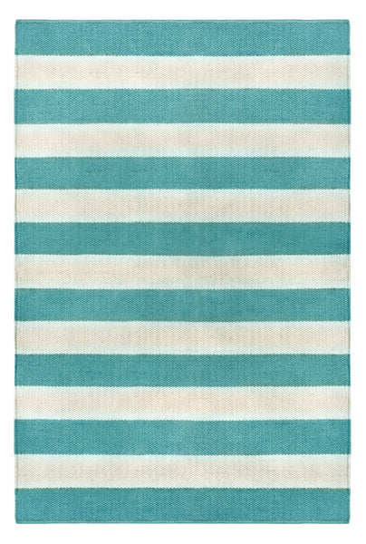 Highway Turquoise and Light Cream Rug