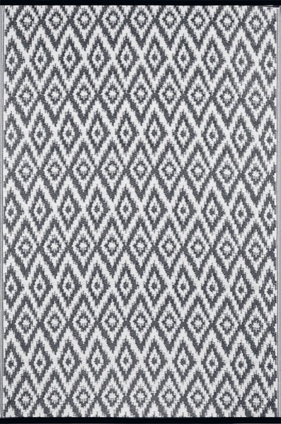 Espero Charcoal Grey and White Rug - greendecore.co.uk - 2