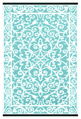 Gala Blue Turquoise and White Rug