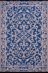 Gala Blue and Pink Rug - greendecore.co.uk - 1