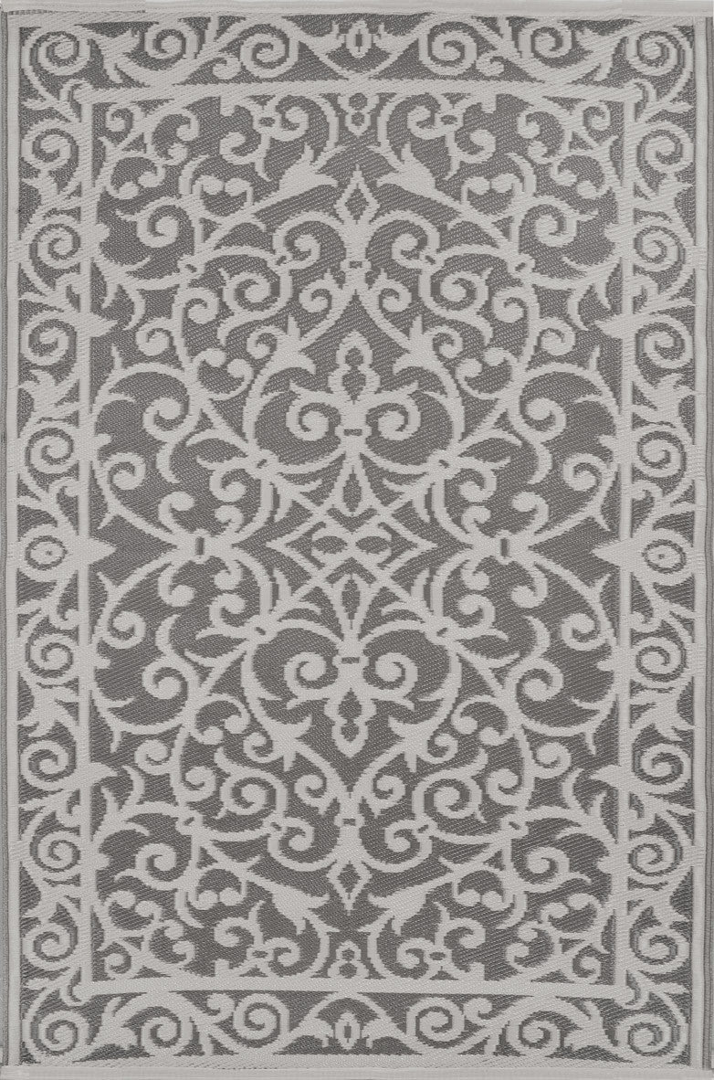 Taupe Grey And Cream Indoor Outdoor Rug Green Decore
