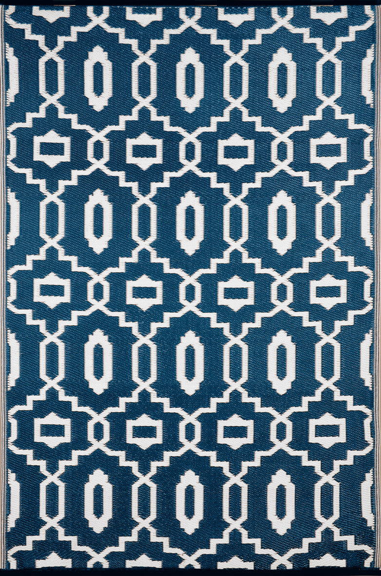 Modern Majolica Blue Colour Rug - greendecore.co.uk - 1