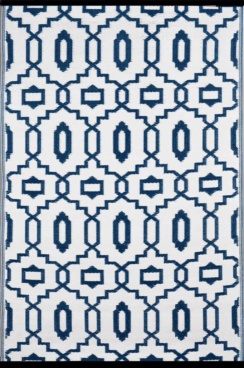 Modern Majolica Blue Colour Rug - greendecore.co.uk - 2