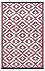 Nirvana Port Wine Red and white rug