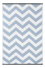Psychedelia Light Blue and White Rug - greendecore.co.uk