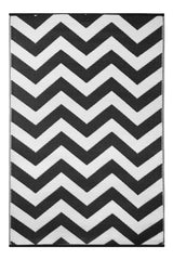 Psychedelia Black and White Rug - greendecore.co.uk