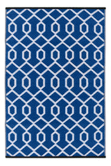 Valencia Dazzling Blue and White Rug - greendecore.co.uk - 1