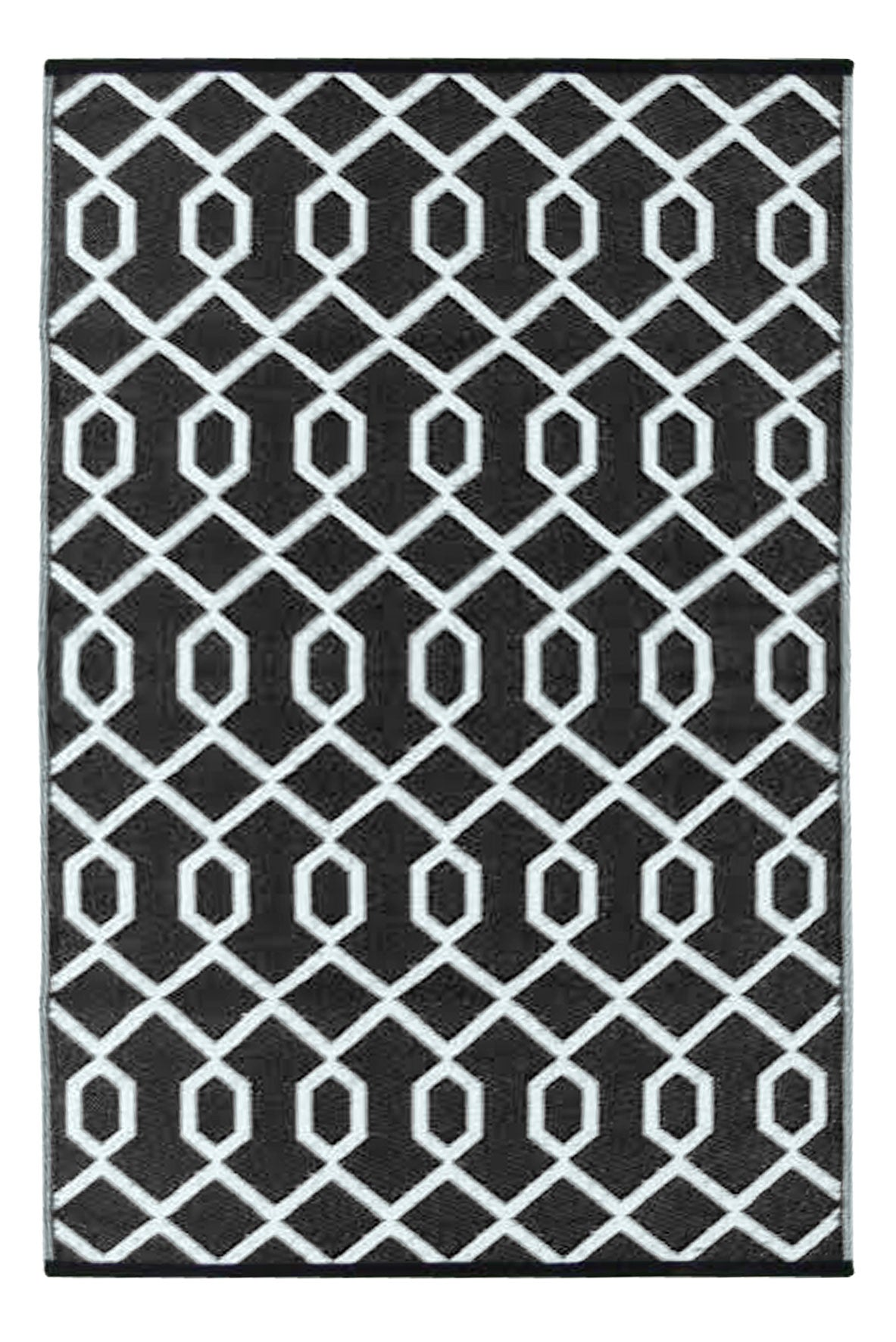 Valencia Black and White Rug - greendecore.co.uk