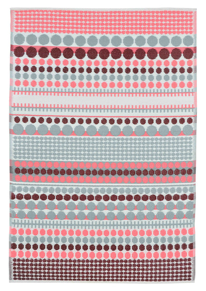 Pixel Pink and Red Outdoor Rug