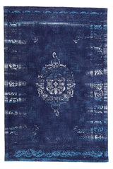 Vintage Dark Blue Rug - greendecore.co.uk - 1