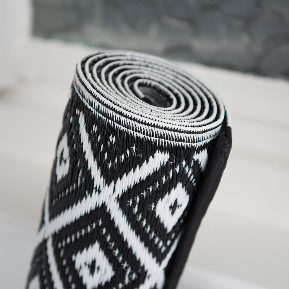 Black And White Rug Outdoor: Black And White Indoor Outdoor Rug UK