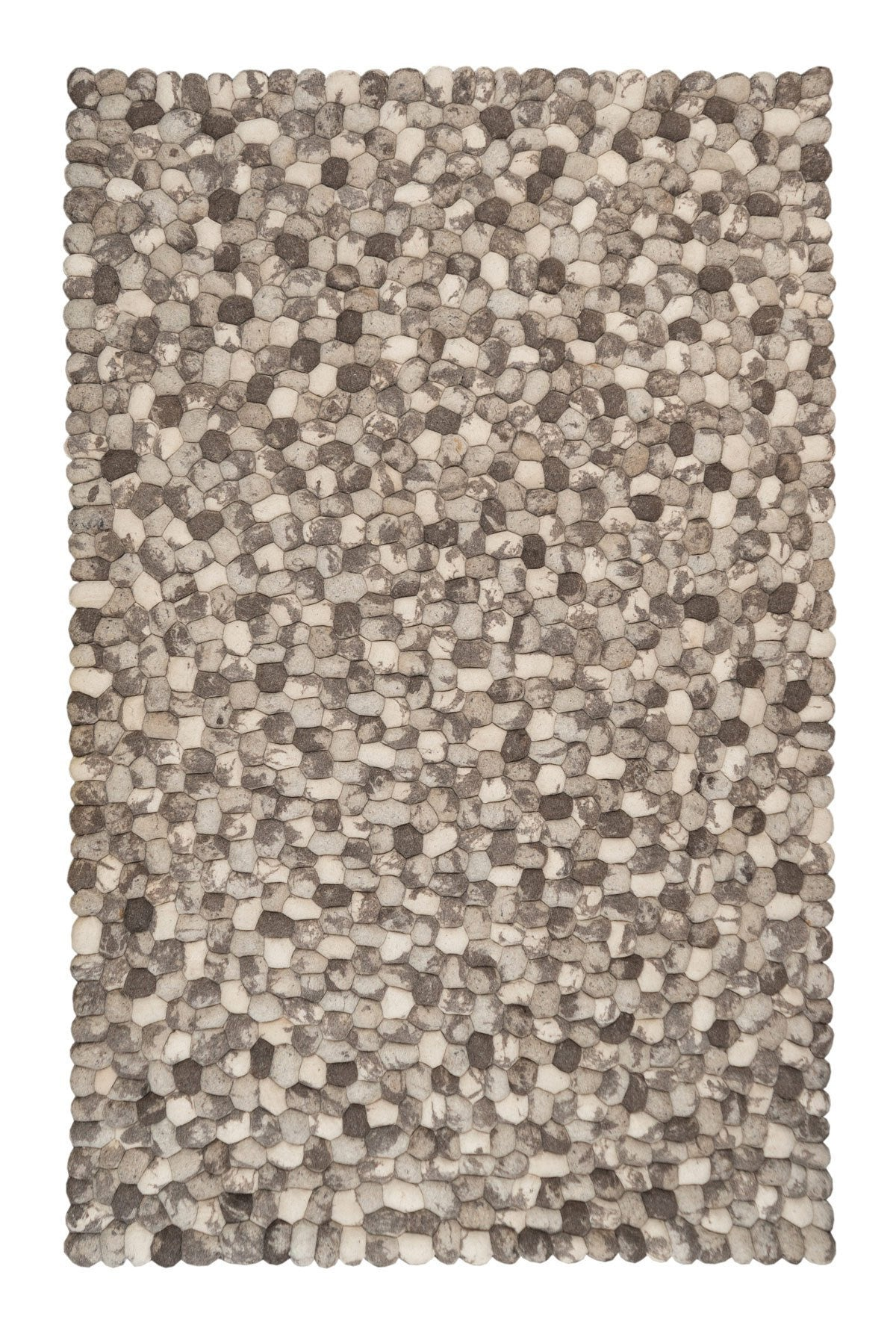 Gozo Stones Wool Rug, Grey Shades - greendecore.co.uk - 3