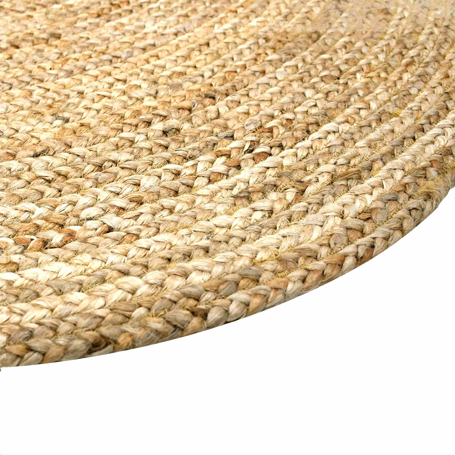 Pacific Handwoven Round Natural Jute Rug